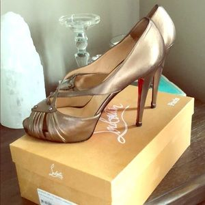 Louboutin Authentic Scissor Girl 120mm